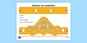 Diadema de cumpleaños-Spanish