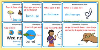Ways To Help Remember Tricky Words - ways to help remember tricky words, tricky words, promt, help, aid, tips, remember, remembering, tricky, words