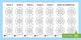 Las tablas de multiplicar 2, 5 y 10 Ficha de actividad