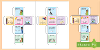 Conversation Starter Dice Activity - common core, speaking and listening, dice, conversation starters, communication