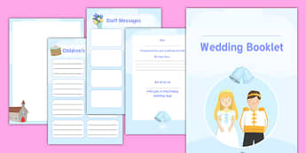 Wedding Activity Booklet