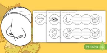 Simțurile toamnei Cadre de scris - compunere, observație, toamna, simțuri, scriere imaginatică, compuneri,Romanian