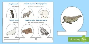 Pacynki na palec Zwierzęta polarne - polarne, zwierzęta, foka, mors, niedźwiedź polarny, Antarktyka, Antarktyda, Arktyka, pacynki, kuk