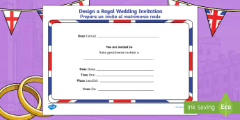 Italian topics primary resources translated page 49 royal wedding invitation writing template englishitalian stopboris Choice Image