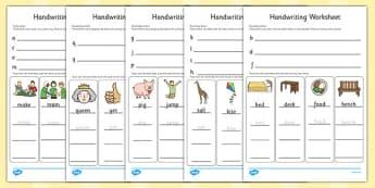 Handwriting Worksheets Letter Formation - writing, english, fine motor skills, presentation, KS1, key stage 1