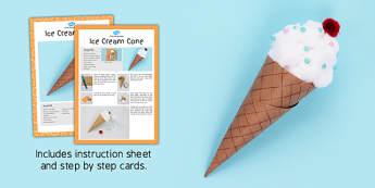 Ice Cream Cone Craft Instructions - craft, instruction, ice cream