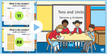Place Value Activity PowerPoint Tens and Ones US English/Spanish (Latin) - Place Value Dienes Activity PowerPoint Tens and Ones - activity, placevalue, base 10, plce value, pl