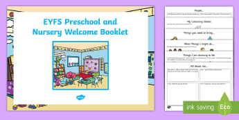 Nursery/Pre-School Welcome Pack - Starting School Welcome Pack