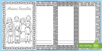 Mein Familienbuch Malvorlage - Familie, Eltern, Geschwister, malen, zeichnen, ausmalen, Verwandte, ,German