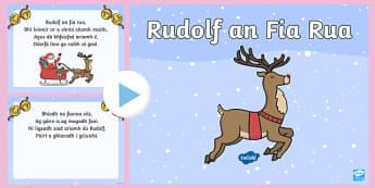 Rudolf an Fia Rua Song PowerPoint Gaeilge