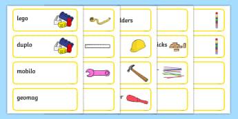 Yellow Themed Editable Construction Area Resource Labels - Themed Construction resource labels, Label template, Resource Label, Name Labels, Editable Labels, Drawer Labels, KS1 Labels, Foundation Labels, Foundation Stage Labels