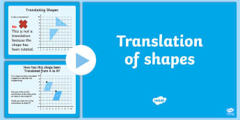 Year 4 Translation of Shapes PowerPoint - KS2, Maths translation, geometry, shape, year 4, y4, LKS, Describe positions on a 2D grid as coordin