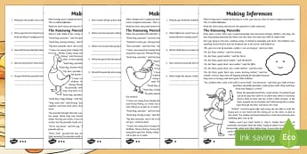 KS2 Pancake Day Inference Worksheet / Activity Sheet - KS2, pancake, traditional, story, inference, feelings, thoughts, motives, actions, justify, evidence