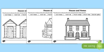 Houses and Homes Addition to 20 Colour by Number