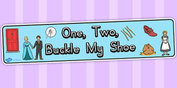 One Two Buckle My Shoe Display Banner - australia, display banner