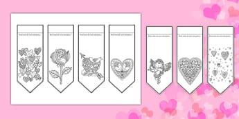 Ziua îndrăgostiților - Semn de carte mindfulness - ziua îndrăgostiților, Valentine's Day, semne de carte, mindfulenss, colorat, dăruit, materiale, materiale didactice, română, romana, material, material didactic