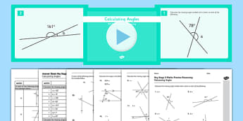 Reasoning Test Practice Calculating Angles Resource Pack - angles around a point, KS2, Key Stage 2, Reasoning, angles, triangles, quadrilaterals