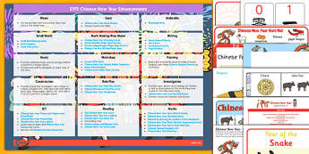 EYFS Chinese New Year Enhancement Ideas and Resources Pack - EYFS planning, early years activities, festival, celebration, planning