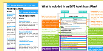 EYFS Autum Themed Bumper Planning Pack Overview - eyfs, autumn, bumper, planning pack, overview