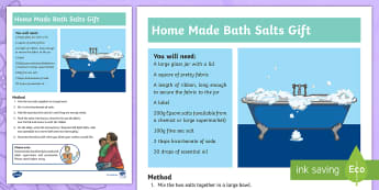 Mother's Day Bath Salts Gift Activity - Present, Care, Love, Science, Thank, Art, Craft,Scottish