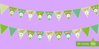 Welcome to Nursery Fingerspelling Display Bunting - bsl, british sign language, display boards, auslan, nzsl, new zealand sign language, australian sign