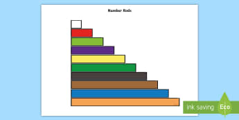 Number Rods Display Cut-Outs - cuisenaire, number rods, working wall, display, Cut outs