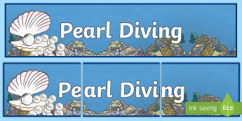 Pearl Diving Display Banner - pearl, diving, traditions, customs, heritage, uae, now and then