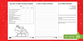 KS1 Differentiated Letter to Father Christmas Writing Sample - Christmas, Nativity, Jesus, xmas, Xmas, Father Christmas, Santa, Father Christmas, letter to Santa,