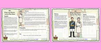 Kings and Queens Lesson Plan Ideas KS1 - lesson plan, ideas, KS1