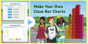 Make Your Own Class Bar Charts Editable PowerPoint  - Australia Maths Resource Moving,Australia, Data Representation and Interpretation, Collect data, org