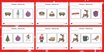 Christmas Odd One Out Worksheet / Activity Sheet