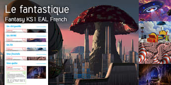 Imagine Fantasy KS1 Resource Pack French - Fantasy, Airship, UFO, Bed, Fractal, Quest, EAL French