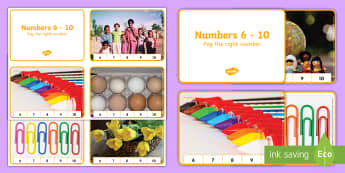 Counting 6-10 Peg Activity - PBL, peg a number, numbers 6-10, counting, understanding number, Number, Count, objects,  one-to-one