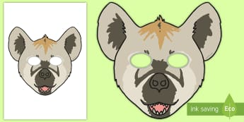 Hyena Role Play Mask - safari, africa, animals, wildlife, zoo,