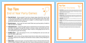 End of Year Party Games Top Tips