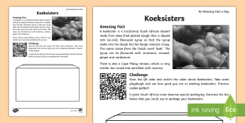 Koeksisters Activity Sheet - south African traditions, traditional food, plaits, fine motor skills, dough, Worksheet