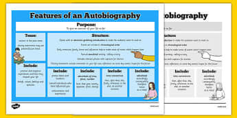Features of an Autobiography Word Mat - autobiography, word mat