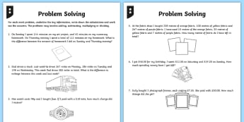 Differentiated Addition and Subtraction Word Problem Worksheet / Activity Sheets - Number - Addition and Subtraction, addition, subtraction, add, subtract, worksheets, two step, two s