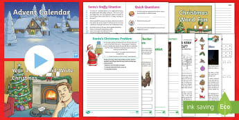 Year 3 Christmas English Bumper Resource Pack - xmas, father christmas, santa, christmas literacy, y3, time fillers,  Xmas, Father Christmas, Santa,