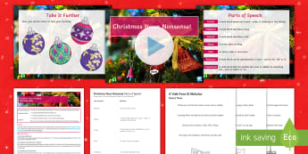 Christmas Noun Nonsense! Lesson Pack - Christmas, nouns, festive, seasonal, end of term activities, poetry, a visit from saint nicholas, a