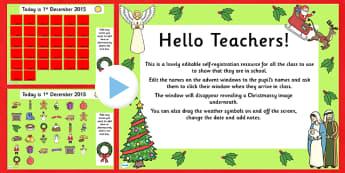 Christmas Self-Registration PowerPoint - christmas, self registration, powerpoint, self registration powerpoint, christmas self registration