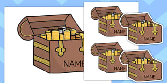 Editable Treasure Chests - Teasure chest, editable, Pirate, Pirates, Topic, cutting, fine motor skills, activity, Fantasy topic, treasure,