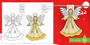Christmas Angel Display Bunting English/Mandarin Chinese - Christmas Angel Bunting - christmas, angel, bunting, display, chritmas, chriatmas, christms, christa