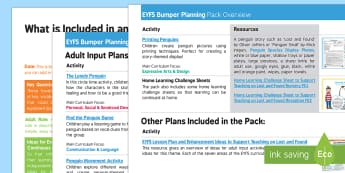 EYFS Bumper Planning Pack Overview - EYFS, Early Years planning, Lost and Found, Oliver Jeffers, polar regions, penguin, South Pole, Anta