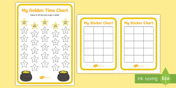 Golden Time Charts - - golden time, charts, sticker charts, rewards, behaviour,