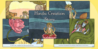 Hindu Creation Story Cards - Hindu Mythology Resources