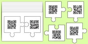 Phase 6 Jigsaw Code Hunter - QR Codes, code hunters, Phonics, Letters and Sounds, English, Reading, Decoding, Phase 6, EYFS, Rece