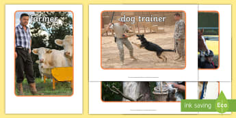 Working with Animals Display Photos - Working with Animals Display Photos Gaeilge - display, photos, occupations, working with animals, Ga