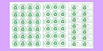 Eco Club Badge Template - eco club, extracurricular, club, badge template