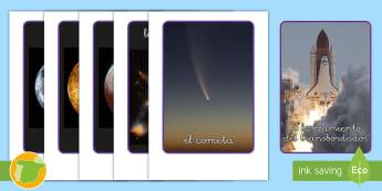 Fotos de exposición: La exploración espacial - pósteres, poster, posters, póster, espacio, espacial, rol, escenario, decorado, decorados, astrono